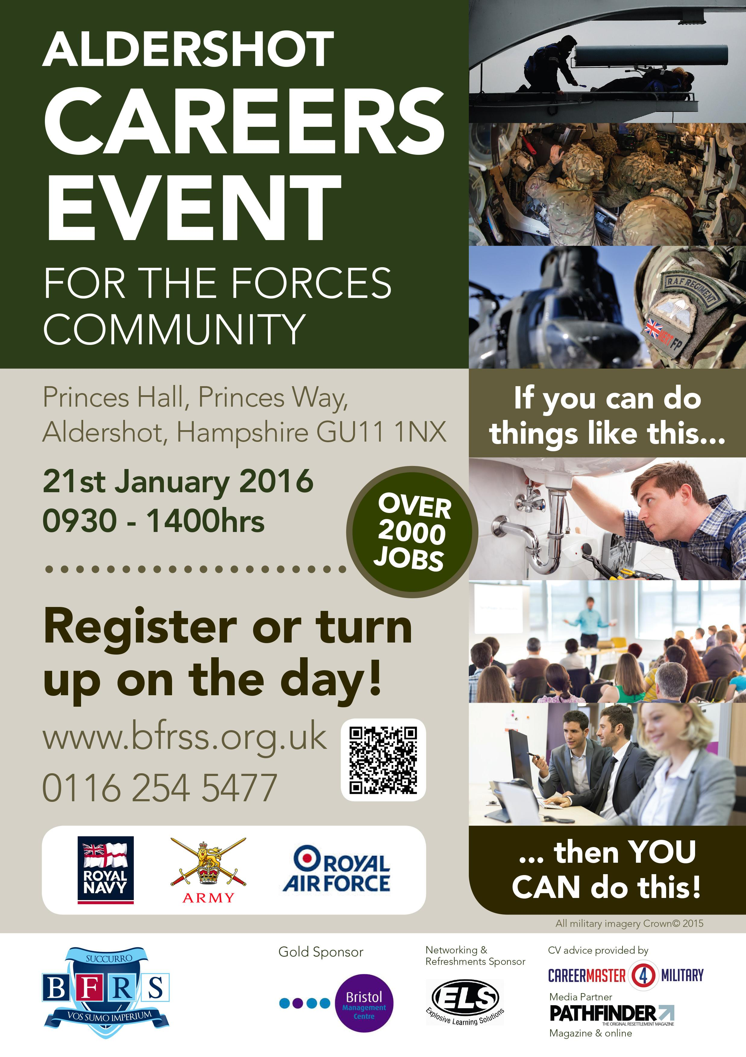Aldershot Careers Event for the armed Forces Community